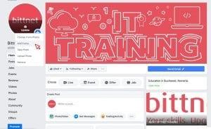 Pagina de Facebook Bittnet Training