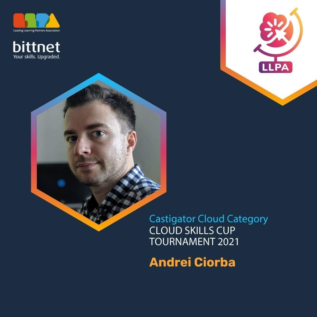 Castigator categoria Cloud turneu LLPA Bittnet Training.