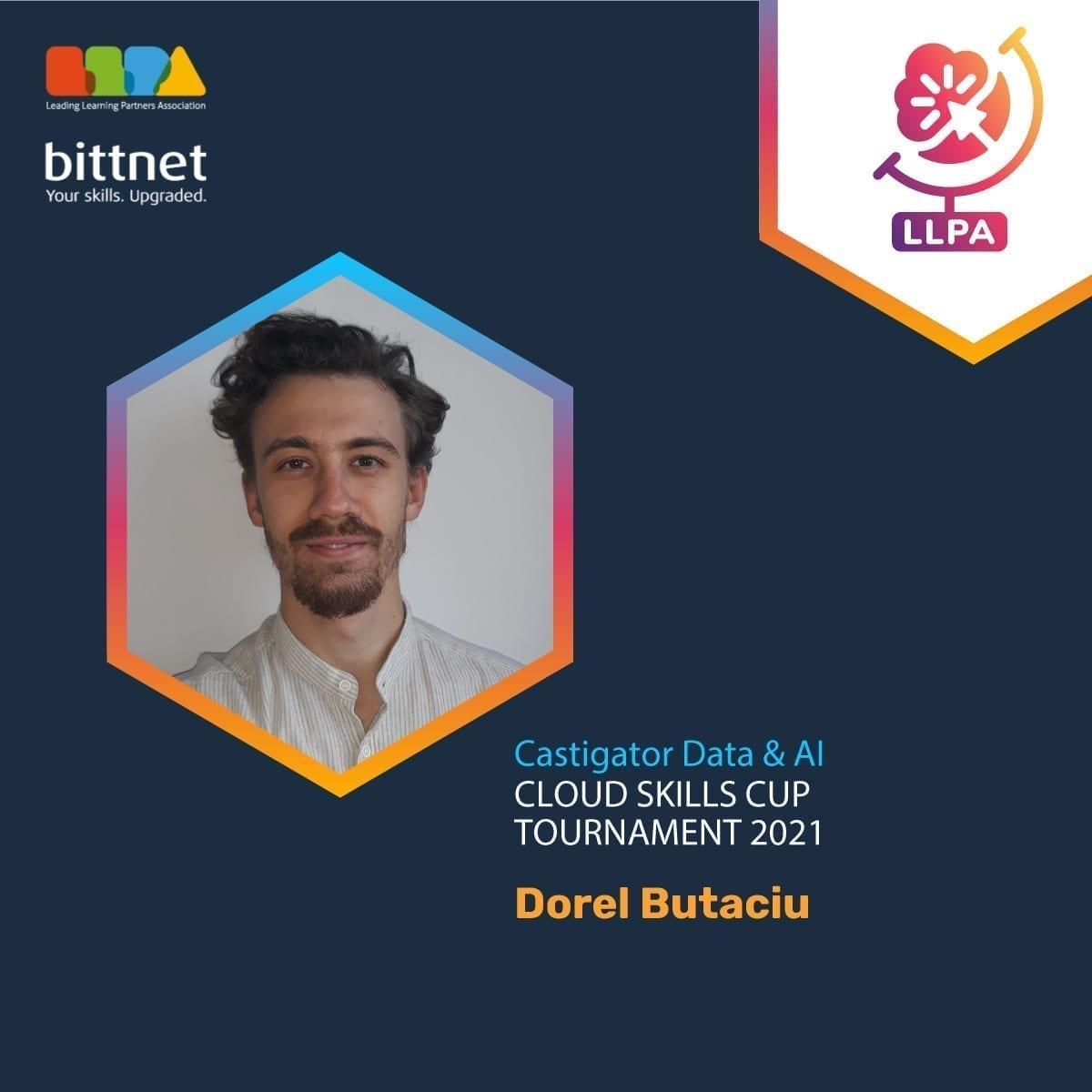 Dorel Butaciu castigatorul locului I la categoria Data&AI C3 Cloud Skills Cup.